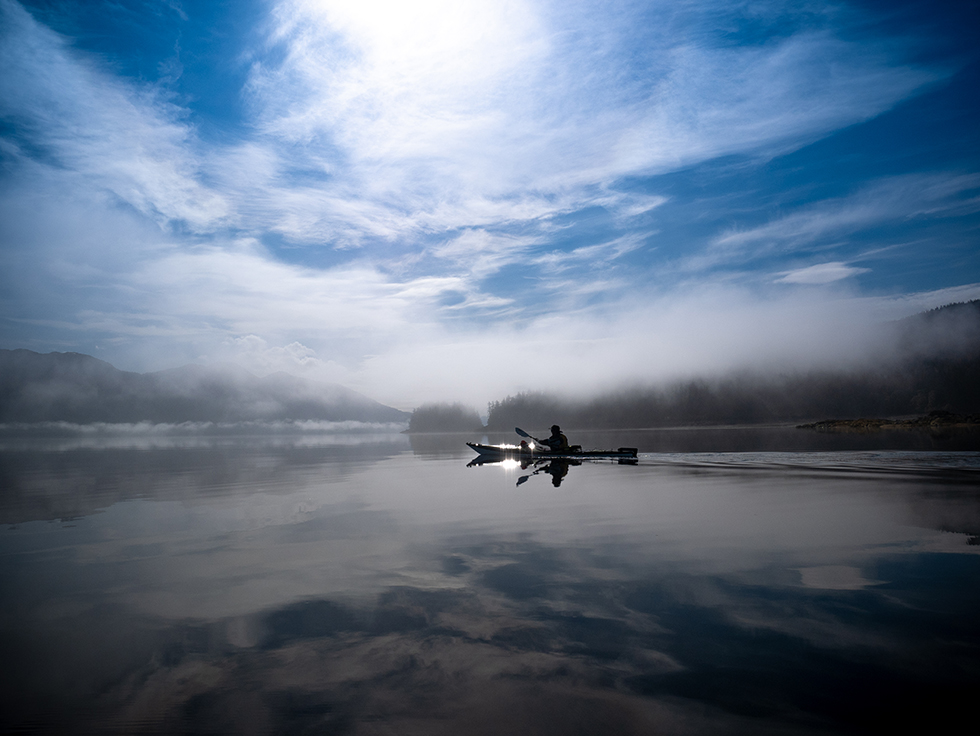 A peaceful paddling experience