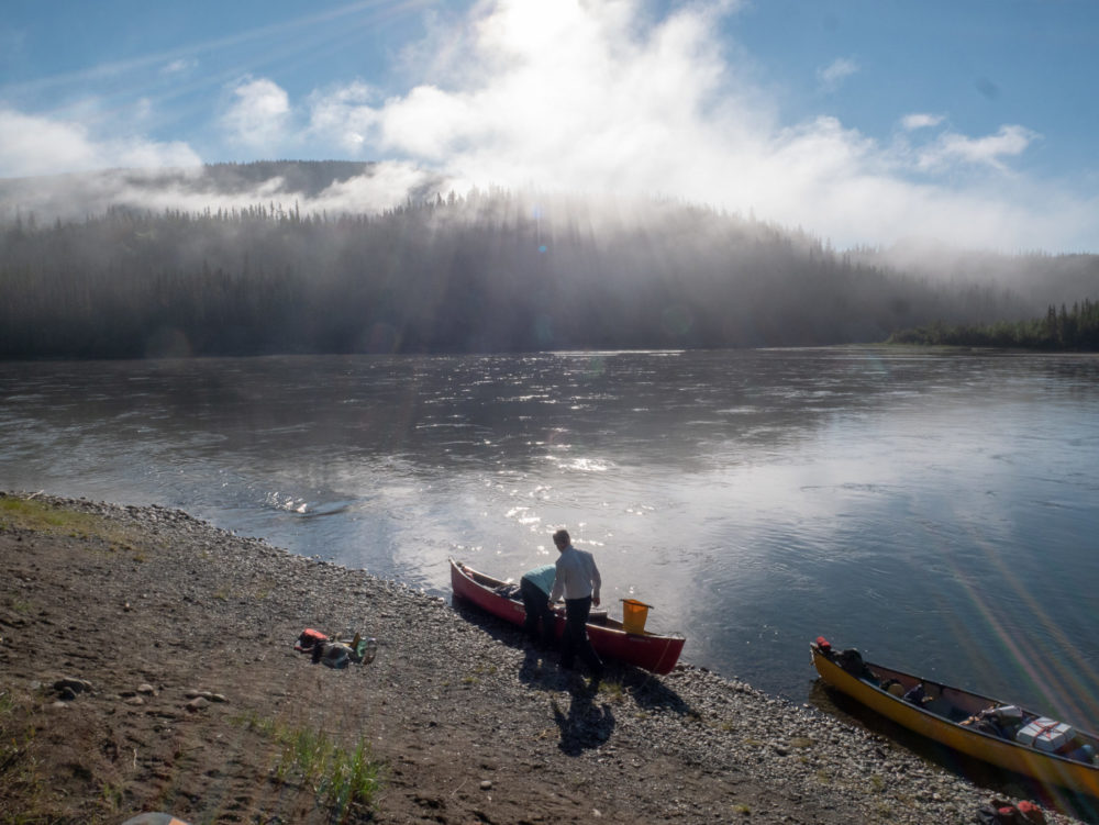 Paddling the Teslin River