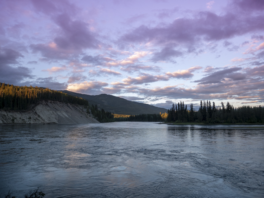 Evening light on the Teslin River