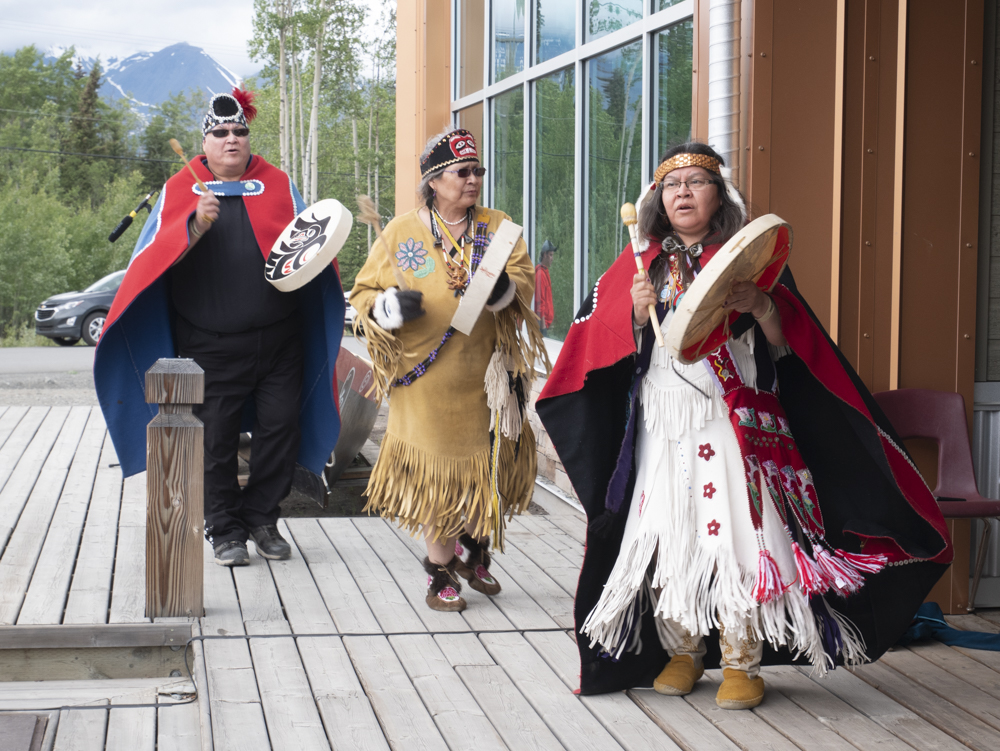 First Nation Singing and drumming